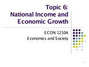 Topic 6. National Income and Economic Growth
