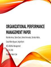 Organzational Performance Management paper.pptx