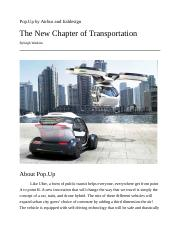 Technology Paper-flying car