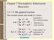 Chapter 7 Nucleophilic Substitution Reactions