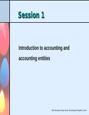 Session 1-Introduction to accounting - PSB