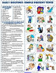 simple present tense daily routines exercises worksheet.pdf