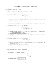 Precalc Homework Quadratic Functions and Their Properties 3.3