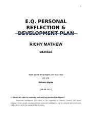E.Q. PERSONAL REFLECTION & DEVELOPMENT PLAN.docx