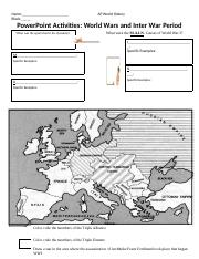 Powerpoint Activity WWI