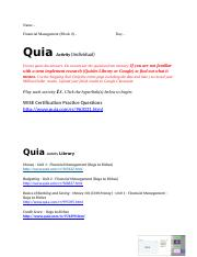 Quia Activity - WISE Certification (Rags to Riches) - Financial Management Library (1).docx