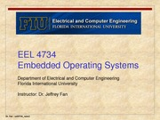 lecture 1 on Embedded Operating Systems