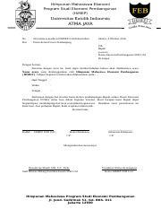 Contoh Surat Permohonan Pendampingan Dosen Docx Himpunan