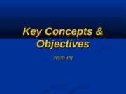 Key Concepts and Objectives
