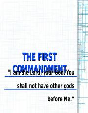 RelEd004-The First Commandment Report.ppt