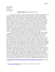 Research Paper College Athletics