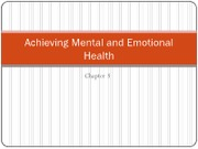 Achieving Mental and Emotional Health chapter 3