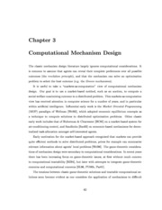 Computational Mechanism Design Chapter 3