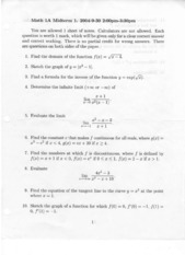 Math 1A - Fall 2004 - Borcherds - Midterm 1