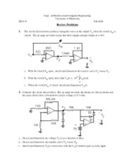 EE3115 Final Exam Practice Problems