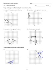 math worksheet : math 8 reflection worksheet 1 solutions  l  3 reflection across  : Maths Transformations Worksheet