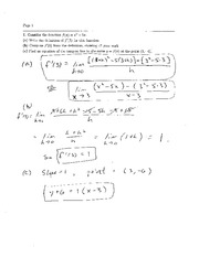 Exam 1 Solution Spring 2008 on Calculus and Analytic Geometry I