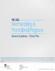 PM USA Merchandising and Promotional Programs General   Guidelines-Fixture Plan