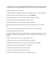Geography_221_Short_Answer_Final_Questions