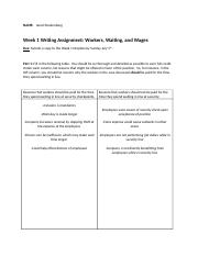 Week 1 Writing Assignment