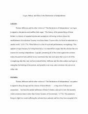 Declaration of Independence Logos, Pathos, Ethos - Google