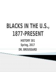 BLACKS IN THE US, 1877-present (TEST 1).pptx