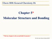 Chem+1010+-+Chapter+5.0+Molecular+Structure+and+Bonding