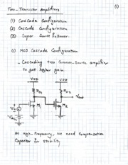 Topic 5 - Two-Transistor Amplifiers