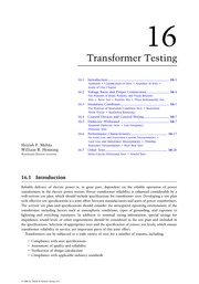 Chapter 16. Transformer Testing