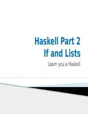 Haskell Part 2(1)