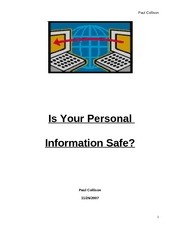 Is Your Personal Information Safe