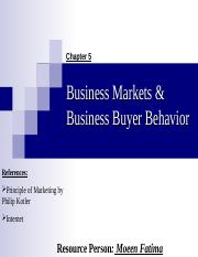 5.Business Markets & Business Buyer Behavior.ppt