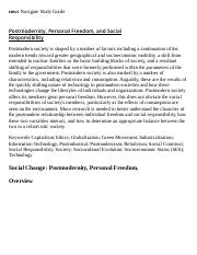 Postmodernity, Personal Freedom, and Social Responsibility Research Paper Starter - eNotes.pdf