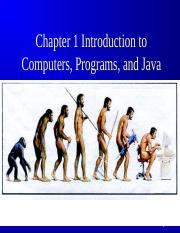 Chapter 1 Slides - Java intro