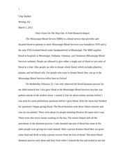 Writ 102 - Final Copy Blood Donation Essay