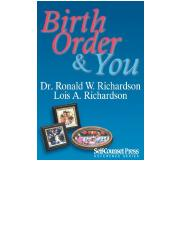 Birth Order & You (Reference Series) - Lois A. Richardson, Ronald W. Richardson.pdf
