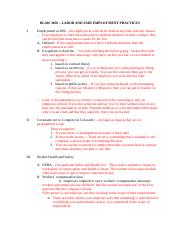 #7 Outline for Labor and Fair Employment Practices.docx
