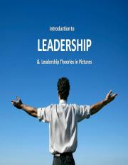 Introduction to Leadership & Theory in Pictures.ppt