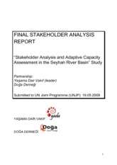 00058944_Stakeholder Analysis in Seyhan River Basin