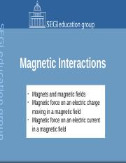 5. Magnetic interaction