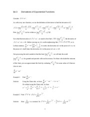 Math 1140  4.3, 4.5 and 4.6 the Derivatives of Exponential and Logarithmic Functions 083