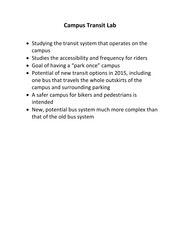 CIVILEN 3700 Campus Transit Lab Overview