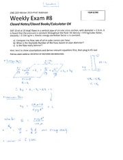 ENG 103 Winter 2014 SKR Weekly Exam 8 Solution