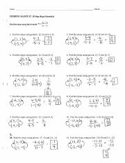 Finding Slope Ws 2 Answer Key Pdf Name Period Finding Slope 2