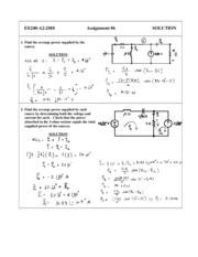 EE 240 - HOMEWORK - Solution 6