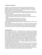 Three-year strategic management proposal to Starbuck's managing board of directors(10 Pages)
