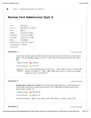 Review Test Submission: Quiz 87