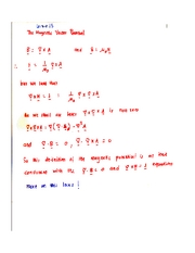Magnetic Vector Potential Notes