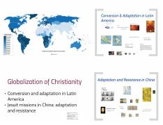 wk 1 - Globalization of Christianity slides