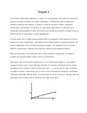 Vectors - General Physics Chapter 2